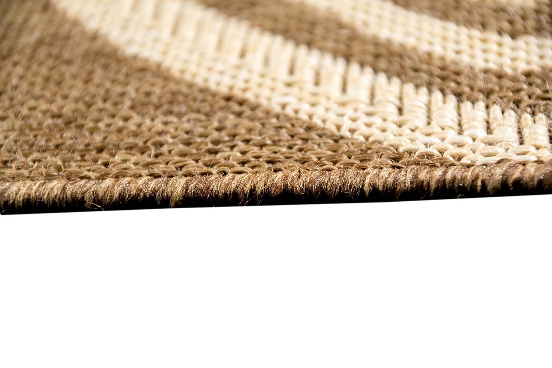 Carpetia Teppich Sisal Optik K/üchenl/äufer K/üchenteppich Coffee braun Gr/ö/ße 60x110 cm