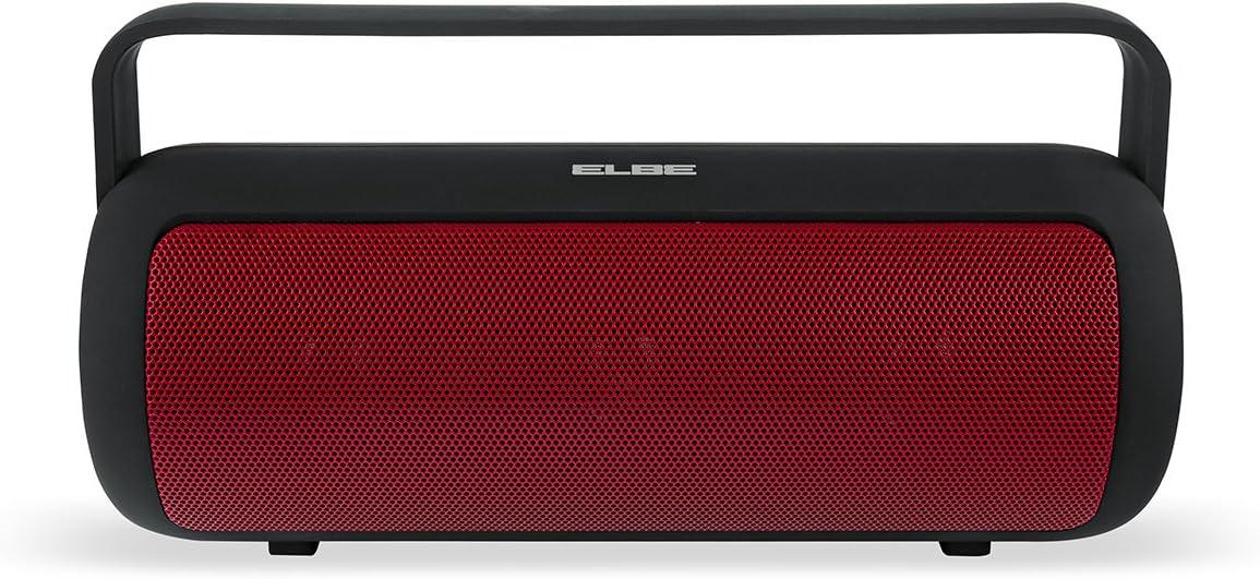 Elbe ALT-149-NR - Altavoz portátil (Bluetooth, 10 W, 4 Horas de reproducción) Color Negro y Rojo: Amazon.es: Electrónica