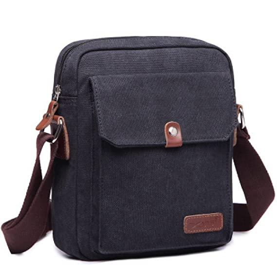 Super Modern ™ Men Small Vintage Canvas Messenger Bag Cross Body Bag Pack  Organizer Satchel Bag 2747e25dc4092
