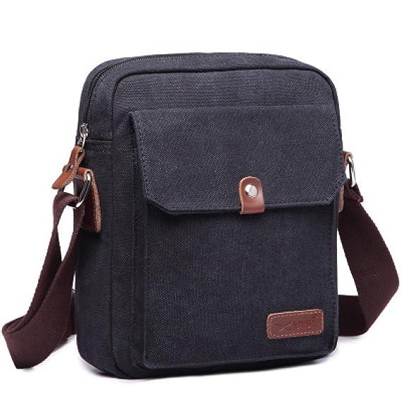 7a0536aae7 Super Modern ™ Men Small Vintage Canvas Messenger Bag Cross Body Bag Pack  Organizer Satchel Bag