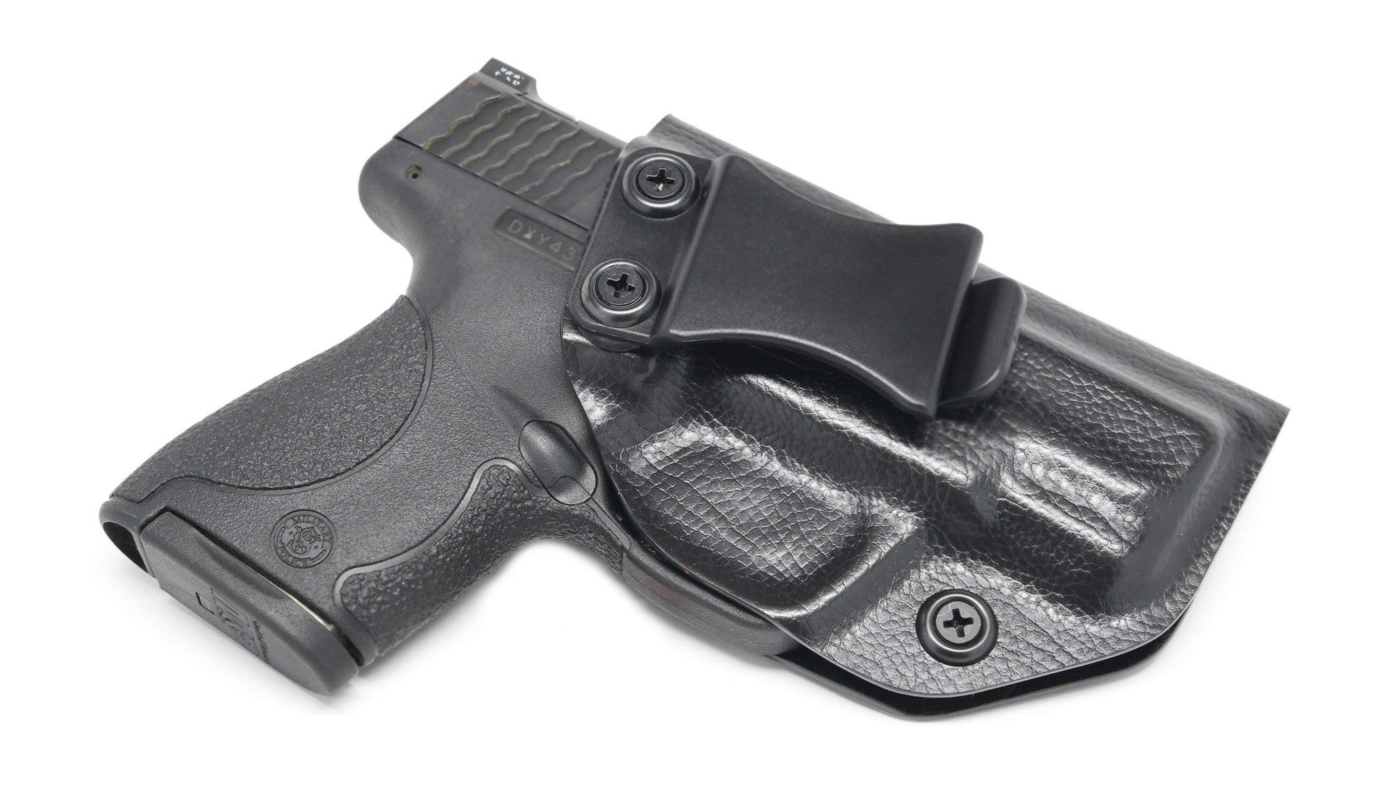 Concealment Express IWB KYDEX Holster: fits Smith & Wesson M&P Shield 9/40 - Custom Fit - US Made - Inside Waistband - Adj. Cant/Retention (RPT BLK, Right) by Concealment Express
