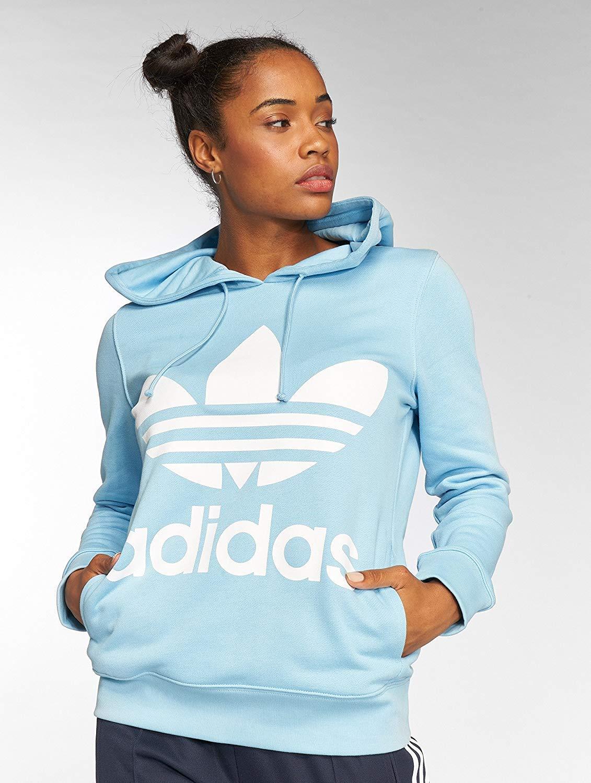 Adidas Adidas Adidas Damen Trefoil Hoodie B07D9QH1WD Kapuzenpullover Angemessener Preis 05eef0