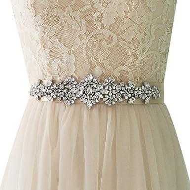 Tricandide Womens Crystal Sash Belt Bridal Wedding Belt Bridesmaid Belts