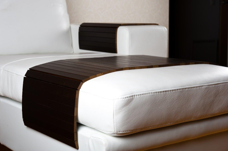 Moebelhome Sofatablett Holz groß XXL 120cm  Ablage Tablett Tablett Tablett BRAUN für Hocker oder Longchair Couch Tablett Hockerablage Holz 61c206