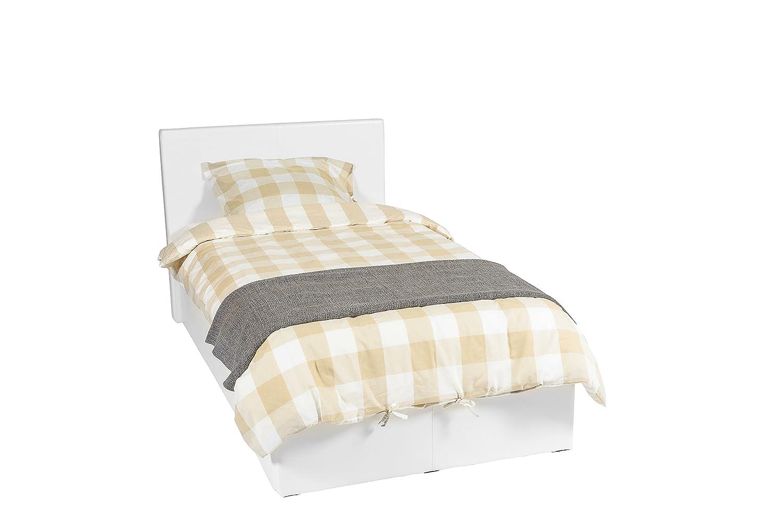 Luna Ottoman lo spazio di archiviazione 430 litro EuropeDirectShopping Telaio per il letto 90x190 Bianco