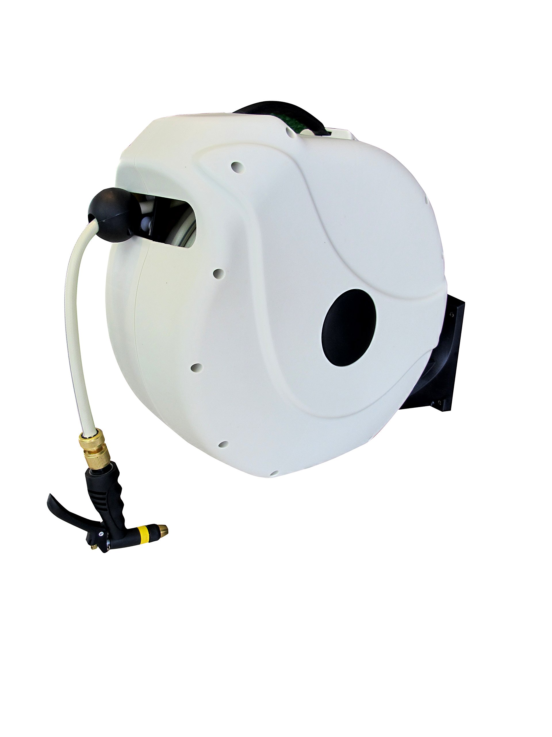 Sunneday Retractable Water Hose Reel, 82', White