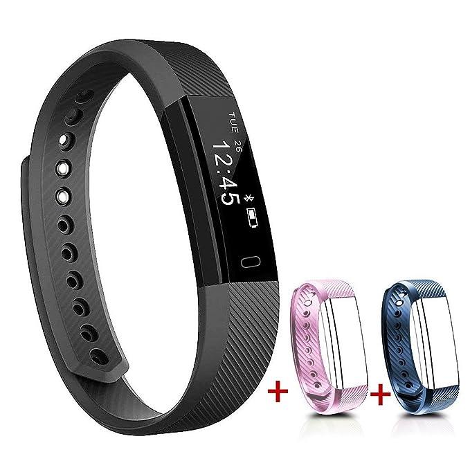 NAKOSITE SB2433 Reloj inteligente mujer hombre Smartwatch Pulsera actividad relojes Inteligentes deportivo, Podometro Contador de Pasos, Calorías, ...