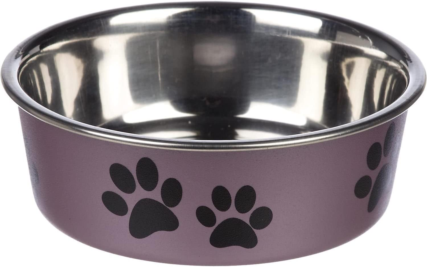 Loving Pets Metallic Bella Bowl, Small, Grape