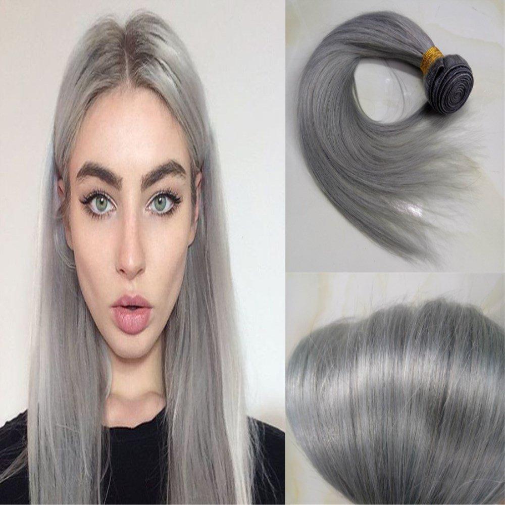 Amazon Hairdancing Brazilian Straight Virgin Hair Silver Grey