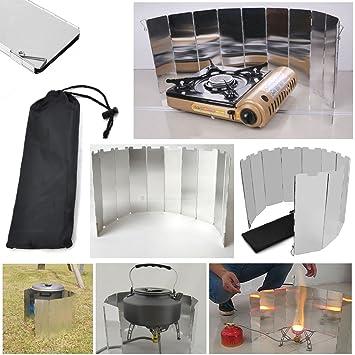 JJOnlinestore – 10 placas plegables para el aire libre, camping, cocina de gas, picnic, estufa, senderismo: Amazon.es: Deportes y aire libre
