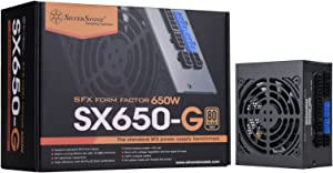 SilverStone Technology SST-SX650-G 650W SFX Fully Modular 80 Plus Gold PSU with Improved 92mm Fan and Japanese Capacitors SX650-G