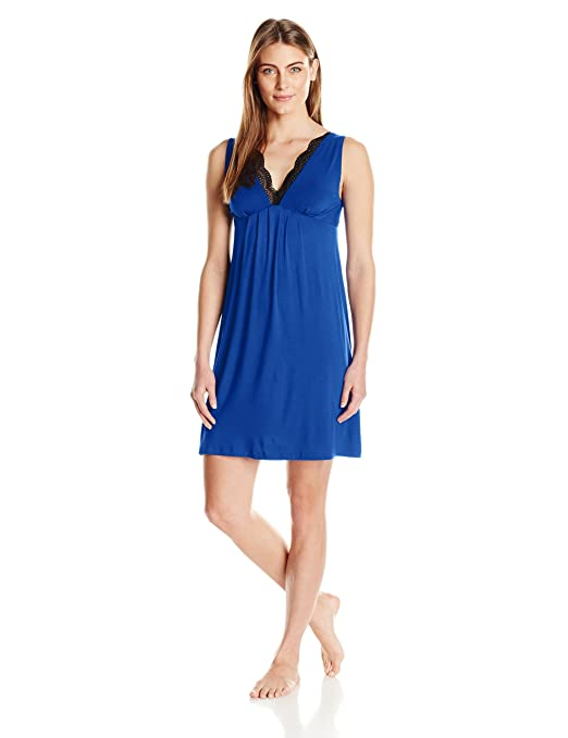 Women's Chemise with Lace Neckline