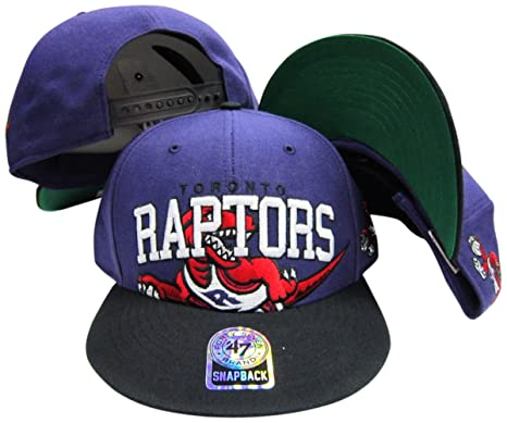 Amazon.com   Toronto Raptors Purple Black Big Logo Snapback ... 31c0b09779eb