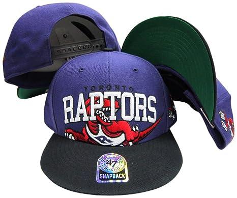 Amazon.com   Toronto Raptors Purple Black Big Logo Snapback ... 44aa58975d8
