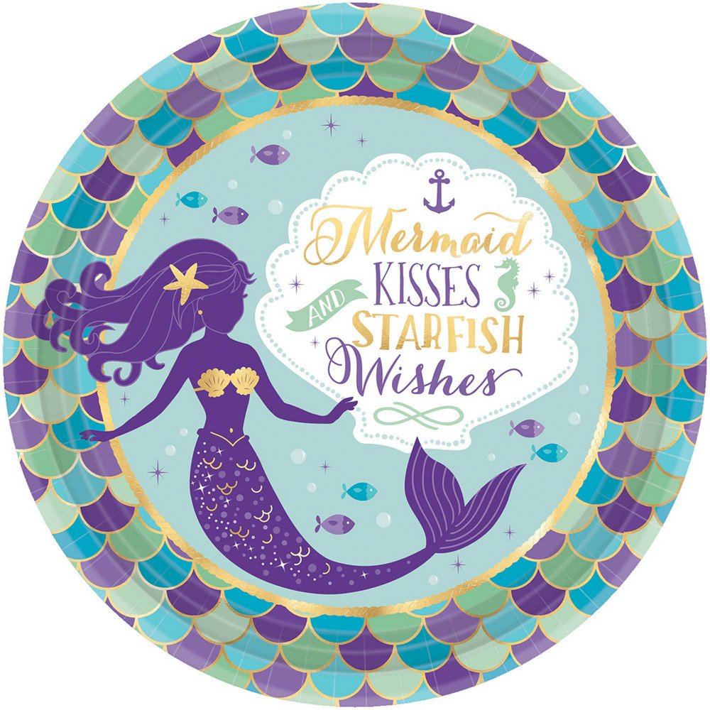 Contains 3 Manufacturer Retail Unit s Little Mermaid Wishes Plate - SKU# 551975 L 8ct Per  Combined Package Sales Unit
