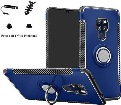 LFDZ Huawei Mate 20 Anillo Soporte Funda 360 Grados Giratorio Ring Grip con Gel TPU Case Carcasa Fundas para Huawei Mate 20 Smartphone (Not fit Mate 20 Lite/Mate 20 Pro),Azul: Amazon.es: Electrónica
