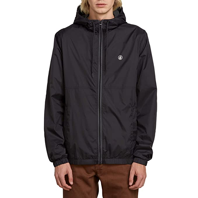 Volcom Mens Ermont Hooded Windbreaker Jacket