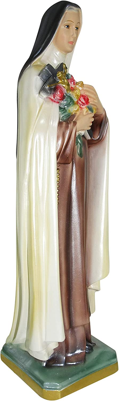 Ferrari /& Arrighetti Statua Santa Teresa in Gesso madreperlato Dipinta a Mano 40 cm