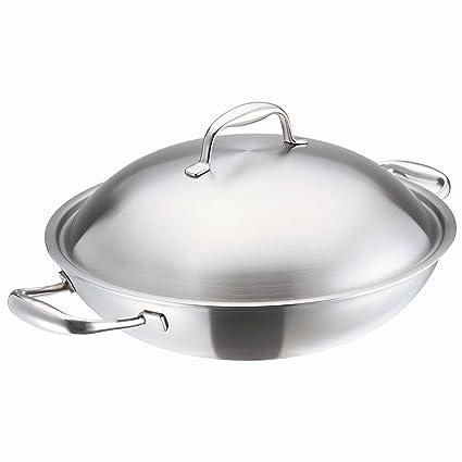 KUHN RIKON 37036 High Dome - Sartén wok con tapa y asas (32 cm,
