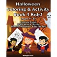 Halloween Coloring & Activity Book 4 Kids: Halloween Coloring Pages | Word Search | Mazes | Sudoku | Sugar Skulls | Hangman |