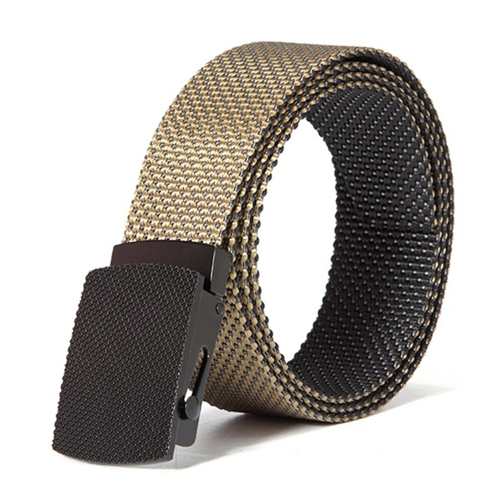 FCNHXJ Mens Casual Dots Smooth Buckle Waist Outdoor Durable Tactical Belt Male Strap For Jeans