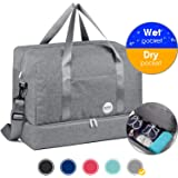 """WANDF 16""""~20""""Gym Bag Sports Duffle 20L~55L with Large Wet Pocket and Shoes Compartment for Swim Sports Travel Luggage"""