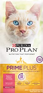 Purina Pro Plan Senior 7+ Nutrient Dense, High Protein Senior Dry Cat Food (Packaging May Vary)