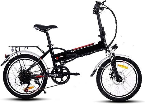 Befied Bicicleta Eléctrica de Montaña 20 Inch Plegable con Bateria Litio 36 V Motor 250 Watios 7 Velocidades Cuadro de Aluminio: Amazon.es: Deportes y aire libre