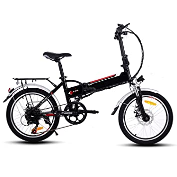 Befied Bicicleta Eléctrica de Montaña 20 inch Plegable con Bateria Litio 36 V Motor 250 Watios