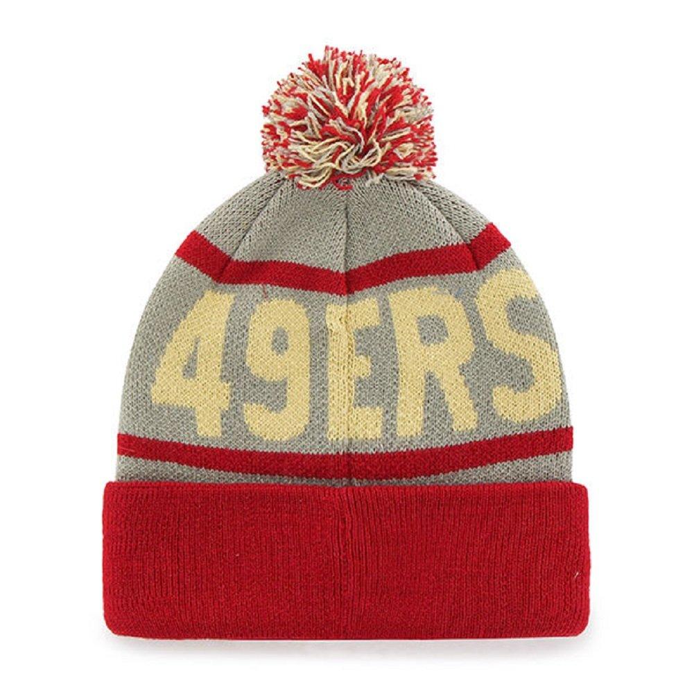 77b8ecf8 '47 Brand Fashion Cuff Beanie Hat with POM POM - NFL Premium Cuffed Winter  Knit Toque Cap