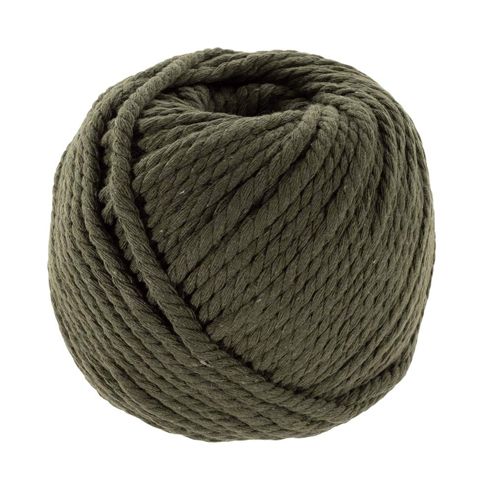 Navy, 3mm X 100m (About 109 Yards) Decorative Natural Bohemia Macramé Knitting Craft Cotton Rope Handmade DIY Wall Hangings Plant Hangers Craft County