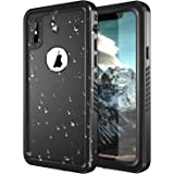 iPhone X Waterproof Case, SNOWFOX Shockproof Dirtproof Snowproof IP68 Certified Waterproof iPhone X Case with Built-in Screen Protector Full body Rugged Cover for iPhone X/iPhone 10