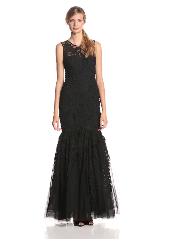 JS Collection Women\'s Embroderied Gown with Mermaid Skirt at Amazon ...