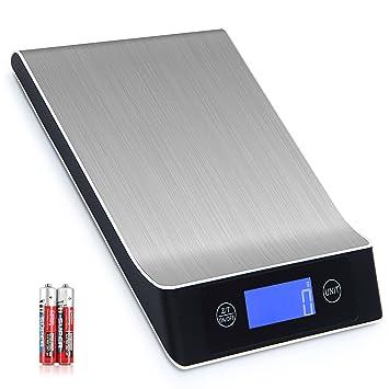 huismart báscula de cocina digital multifunción de acero inoxidable Escala, 22lb/10kg anti cubierta