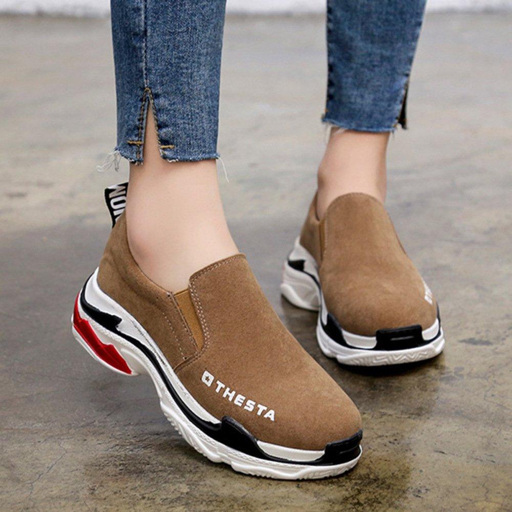 snfgoij Ladies Hiking Shoes Women Waterproof Walking Shoes Womens Shoes Flat Anti-Slip Casual Shoes Single Shoes