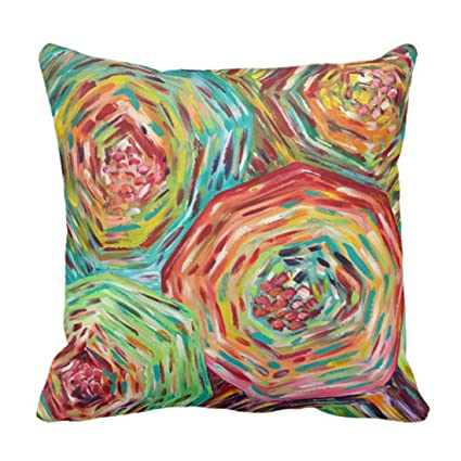 Image Unavailable. Image not available for. Color  Emvency Throw Pillow  Cover Floral Bright ... d9a300221191