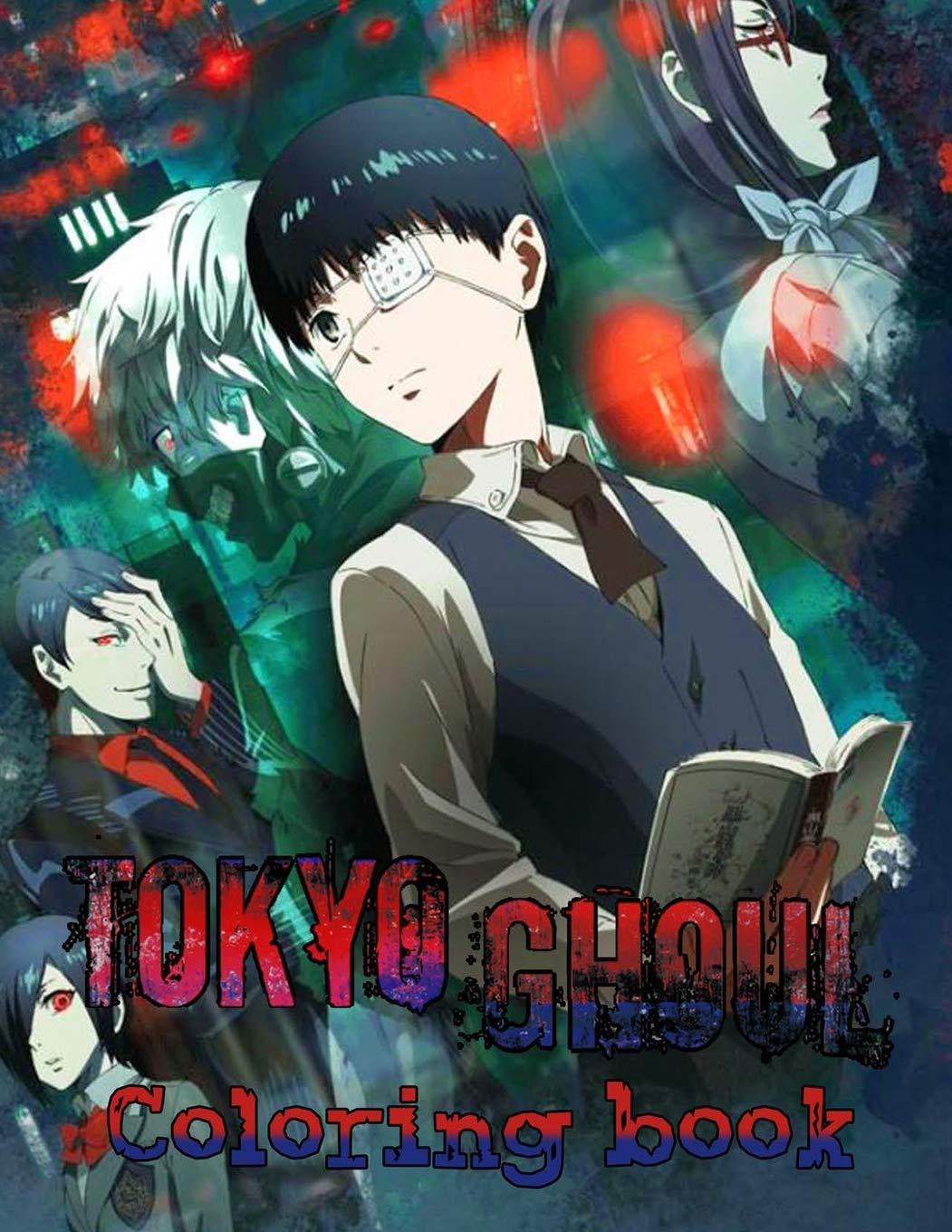 Amazon Com Tokyo Ghoul Coloring Book For Adults And For Kids High Quality The Best 30 High Quality Illustrations 73 Page More Then 30 Character Tokyo Ghoul Managa Tokyo Ghoul Coloring Book 9798682233670 Ghost Anime