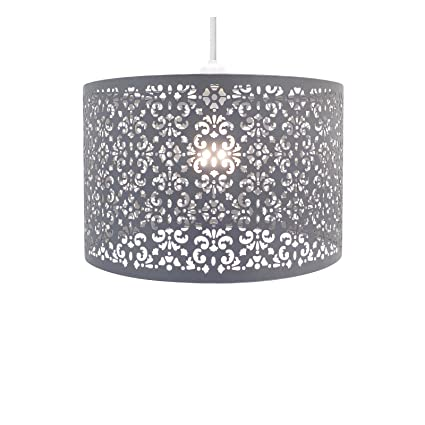 6877ed83cca Chandelier Chic Ceiling Light Pendant Shade Crystal Droplet Fitting Easy Fit  (Large Metal Shade Dark
