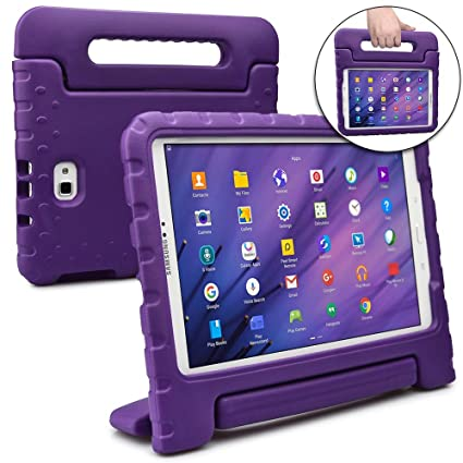 separation shoes 02f4f f2ee8 Cooper Dynamo [Rugged Kids Case] Protective Case for Samsung Tab A 10.1 |  Child Proof Cover w/Stand, Handle, Screen Protector | SM-T580 T585 (Purple)