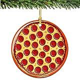 City-Souvenirs Pepperoni Pizza Christmas Ornament