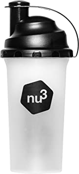 nu3 Shaker - Coctelera para proteínas – 700 ml – agitador de plástico para batidos proteínicos, bebidas de fitness, smoothies (libre de BPA) - Vaso ...