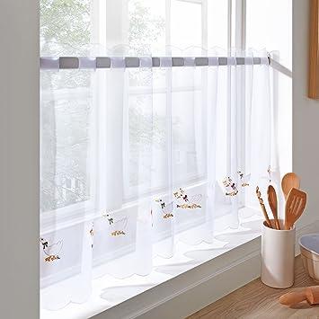 just contempo panel de cortina bordada para cocina listo para colgar polister geese