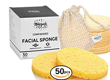 Amazon Com Facial Sponges Bigger Size 100 Natural Compressed