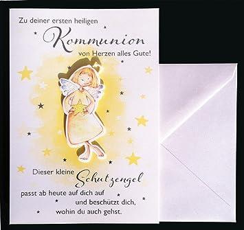 Kommunion Karte Schreiben.Gluckwunschkarte Zu Deiner Ersten Heiligen Kommunion Karte