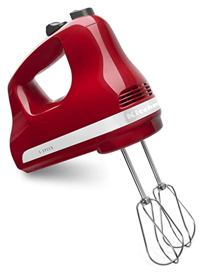 kitchenaid khm512er 5 speed ultra power hand mixer empire red - Kitchen Aid Hand Mixer