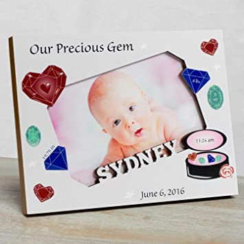 Amazon.com : Personalized Baby Picture Frame, Baby Girl Picture ...