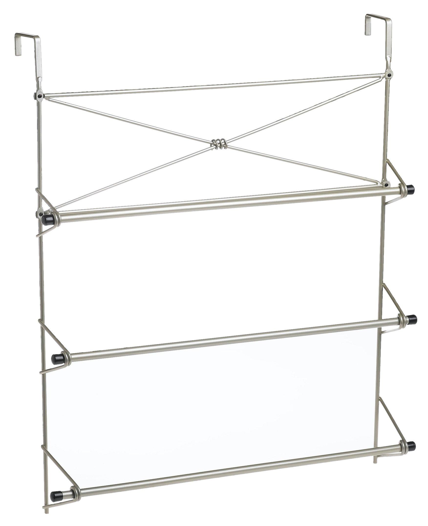 Zenna Home 2526NN, Cross Style Towel Rack, Satin Nickel by Zenna Home