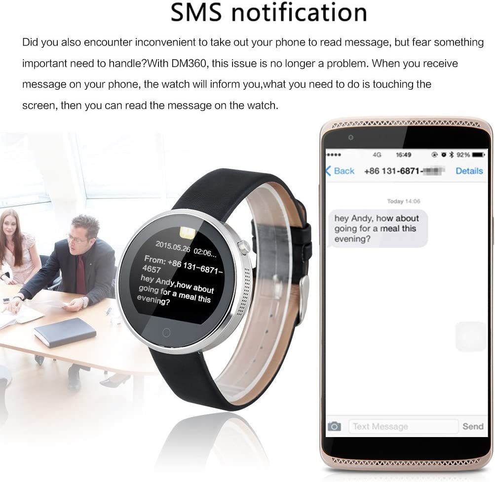 LEMFO DM360 - Ajustable Smartwatch Reloj Bluetooth (IPS 1.22 ...