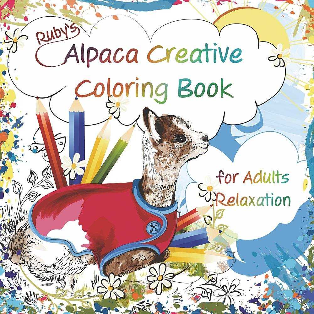 Download Ruby's Alpaca Creative Coloring Book for Adults Relaxation pdf epub