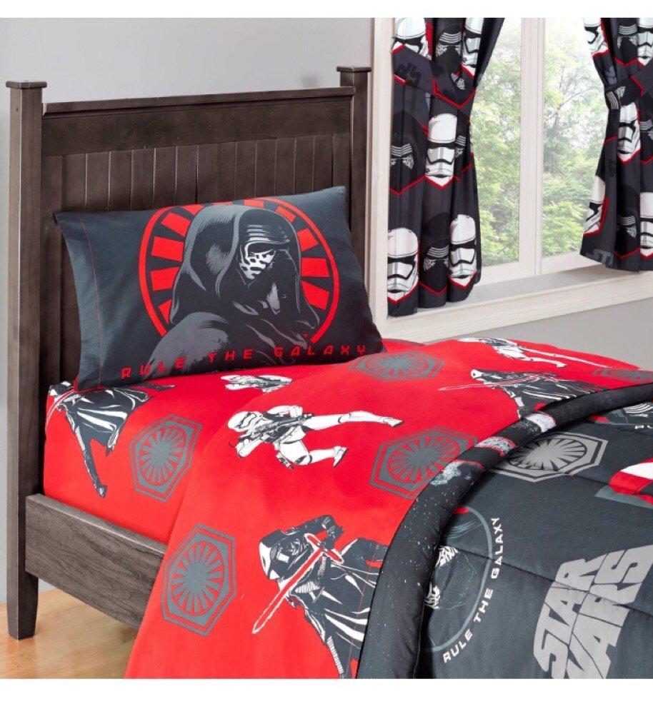 Disney Star Wars Episode VII Kylo Ren Deluxe Microfiber Sheet Set, Twin (3 Items)